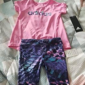 Matching adidas set baby 6 month girl